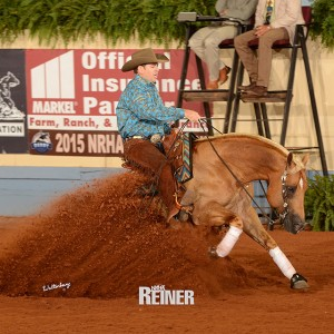 TMF Congratulates Jordan Larson and Steppin On Sparks on BIG Score at 2015 NRHA Derby