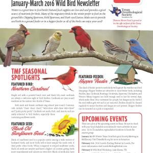 TMF Wild Bird Newsletter
