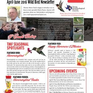 TMF Wild Bird Newsletter - April - June 2016