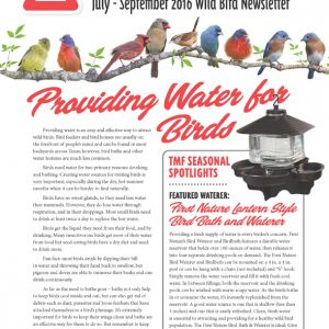 TMF Wild Bird Newsletter - July-September 2016